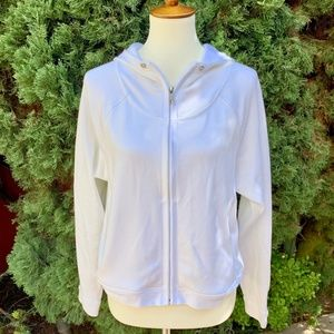 Athleta White Zip Up Hoodie
